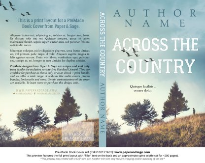 Pre-Made Book Cover ID#210212TA01 (Across the Country)