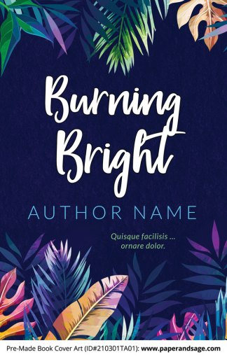 Pre-Made Book Cover ID#210301TA01 (Burning Bright)