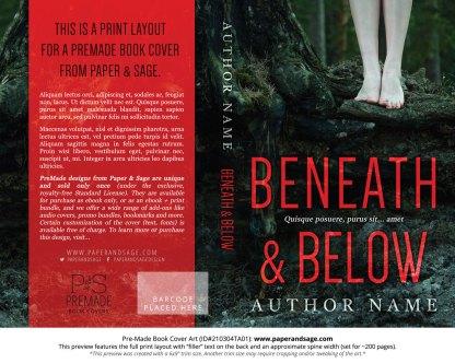 Pre-Made Book Cover ID#210304TA01 (Beneath & Below)