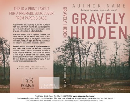 Pre-Made Book Cover ID#210307TA01 (Gravely Hidden)