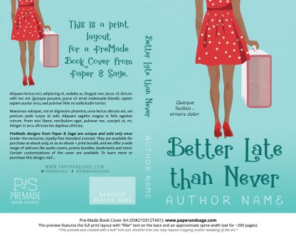 Pre-Made Book Cover ID#210312TA01 (Better Late than Never)