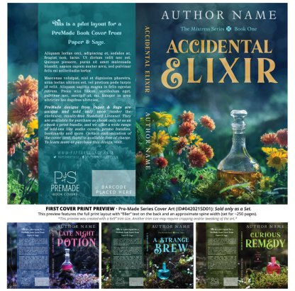 PreMade Series Covers ID#042021SD01 (The Mixtress Series, Only Sold as a Set)