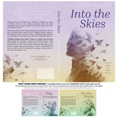 PreMade Series Covers ID#052021SA01 (The Flight Series, Only Sold as a Set)