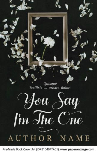 Pre-Made Book Cover ID#210404TA01 (You Say I'm The One)