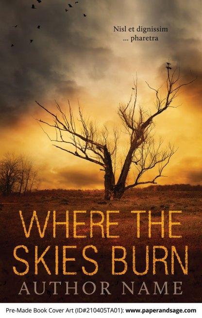 Pre-Made Book Cover ID#210405TA01 (Where the Skies Burn)