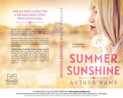 Pre-Made Book Cover ID#210406TA01 (Summer Sunshine)