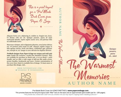 Pre-Made Book Cover ID#210407TA01 (The Warmest Memories)