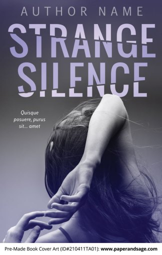 Pre-Made Book Cover ID#210411TA01 (Strange Silence)