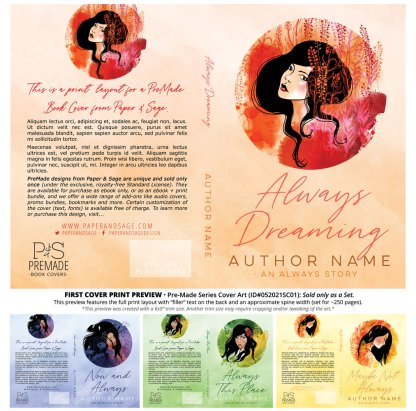 PreMade Series Covers ID#052021SC01 (The Always Series, Only Sold as a Set)