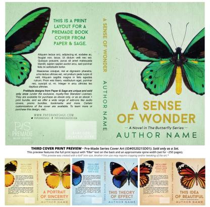PreMade Series Covers ID#052021SD01 (The Butterfly Series, Only Sold as a Set)