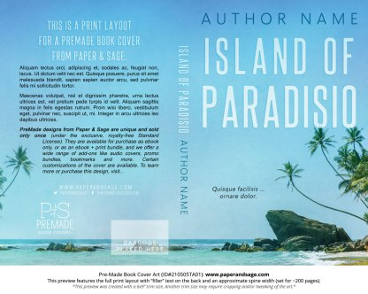 Pre-Made Book Cover ID#210505TA01 (Island of Paradisio)