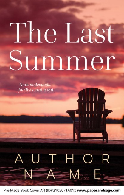 Pre-Made Book Cover ID#210507TA01 (The Last Summer)