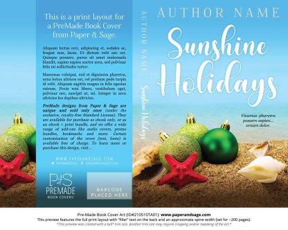 Pre-Made Book Cover ID#210510TA01 (Sunshine Holidays)