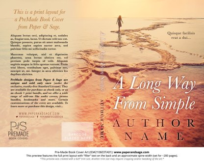 Pre-Made Book Cover ID#210603TA01 (A Long Way From Simple)
