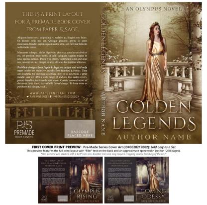 PreMade Series Covers ID#062021SB02 (Olympus Series, Only Sold as a Set)