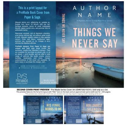 Print layout for PreMade Series Covers ID#072021SC01 (Waterline Series, Only Sold as a Set)