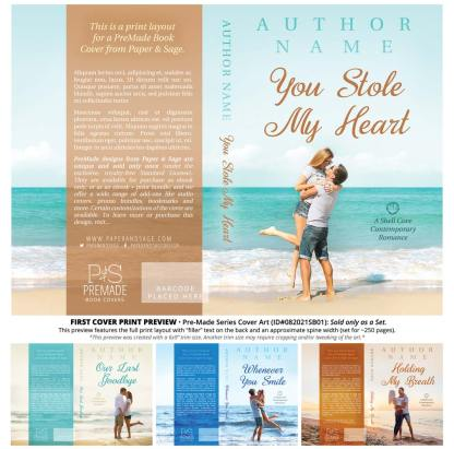 PreMade Series Covers ID#082021SB01 (Shell Cove Series, Only Sold as a Set)