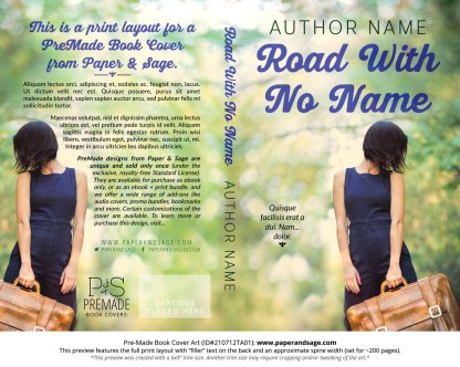 PreMade Book Cover ID#210712TA01 (Road With No Name)