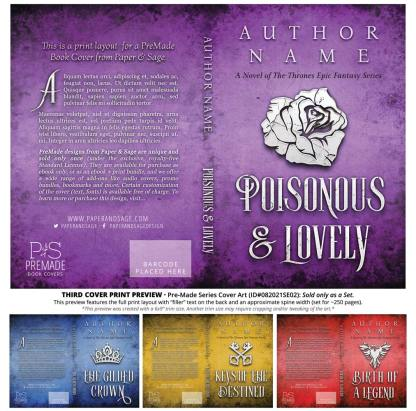 PreMade Series Covers ID#082021SE02 (The Thrones Series, Only Sold as a Set)