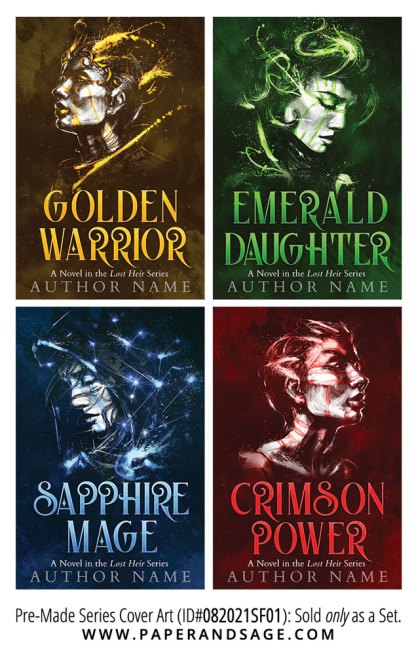 PreMade Series Covers ID#082021SF01 (The Lost Heir Series, Only Sold as a Set)