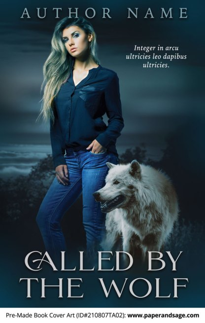 PreMade Book Cover ID#210807TA02 (Called by the Wolf)