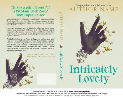 PreMade Book Cover ID#210809TA01 (Intricately Lovely)