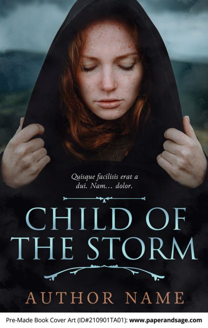 PreMade Book Cover ID#210901TA01 (Child of the Storm)