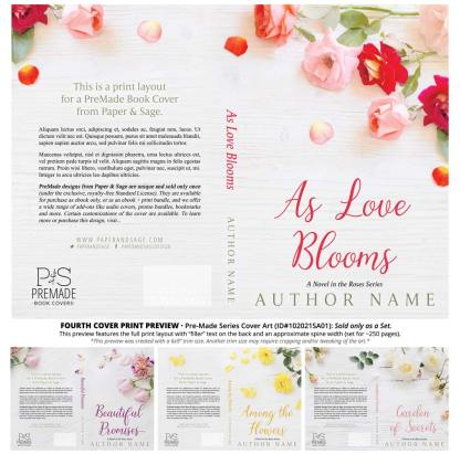 PreMade Series Covers ID#102021SA01 (The Roses Series, Only Sold as a Set)