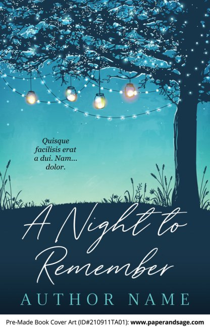 PreMade Book Cover ID#210911TA01 (A Night to Remember)