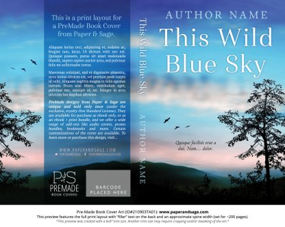 PreMade Book Cover ID#210903TA01 (This Wild Blue Sky)