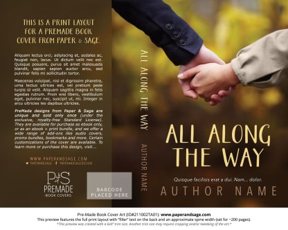 PreMade Book Cover ID#211002TA01 (All Along the Way)