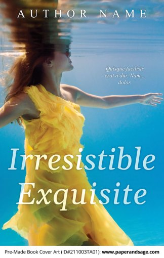 PreMade Book Cover ID#211003TA01 (Irresistible Exquisite)