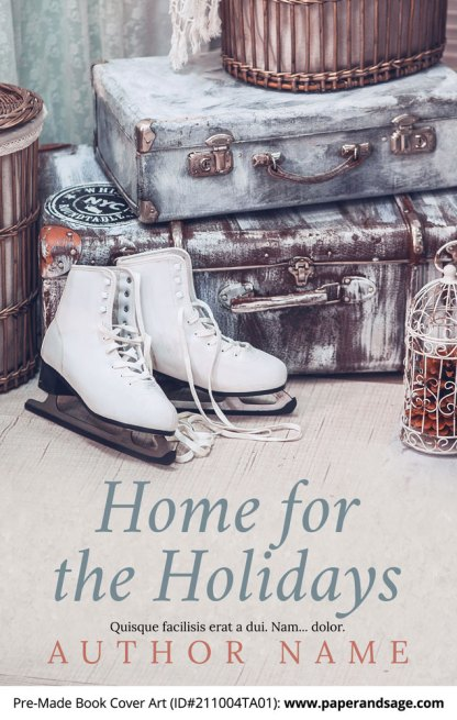 PreMade Book Cover ID#211004TA01 (Home for the Holidays)