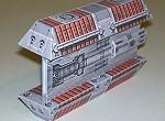 Papercraft recortable e imprimible de la nave Bulkfreighter de Star Wars. Manualidades a Raudales.