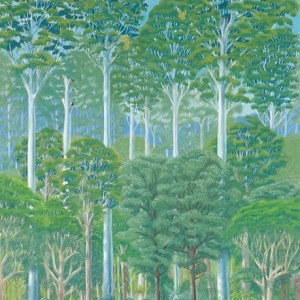 Wet sclerophyll forest - flooded gums (pastel)