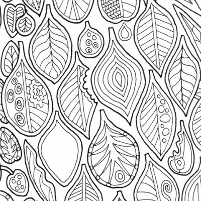 Leaf shapes (detail) from Bimblebox Wonderland.