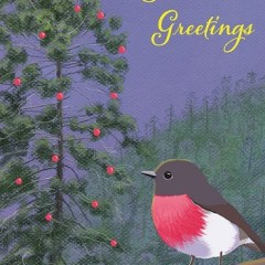 Rose Robin and Hoop Pine Christmas card