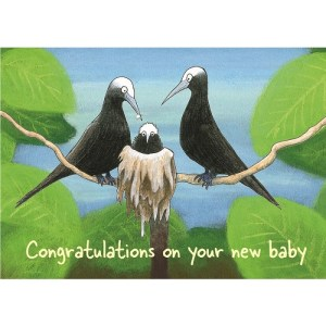 New baby noddies card