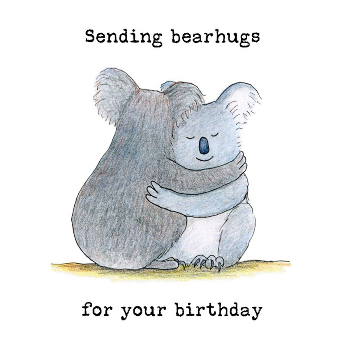 Sending Bearhugs Koala Birthday Card Paperbark Writer