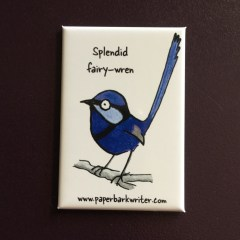 Splendid Fairy-wren fridge magnet