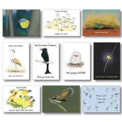 Bird-lovers greeting card collection