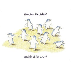 Birthday penguins card
