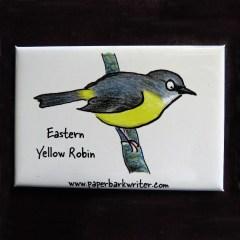 Eastern Yellow Robin fridge magnet