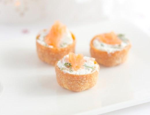 Croustades saumon/chèvre - paperboat.fr