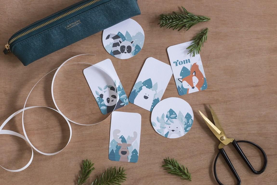 Étiquettes cadeaux Noël 2017 - www.paperboat.fr