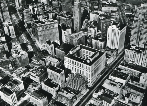 Aerial View Of Downtown Historic Detroit Blank Note Card