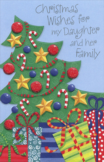 Decorated Tree Daughter Christmas Card By Freedom Greetings