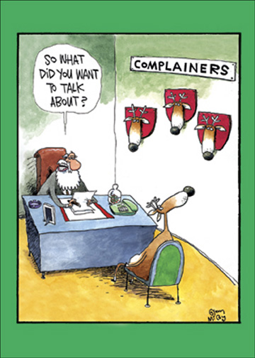 Complainers Box Of 12 Funny Humorous Christmas Cards By
