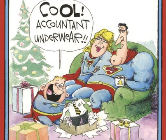 Accountant Super Christmas Funny Humorous Christmas Card