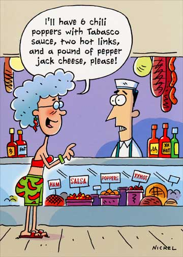 Spicy Hot Order Funny Humorous Birthday Card By Oatmeal